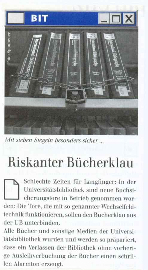 BIT: Riskanter Bücherklau